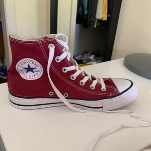 DARK RED CONVERSE HIGH TOP